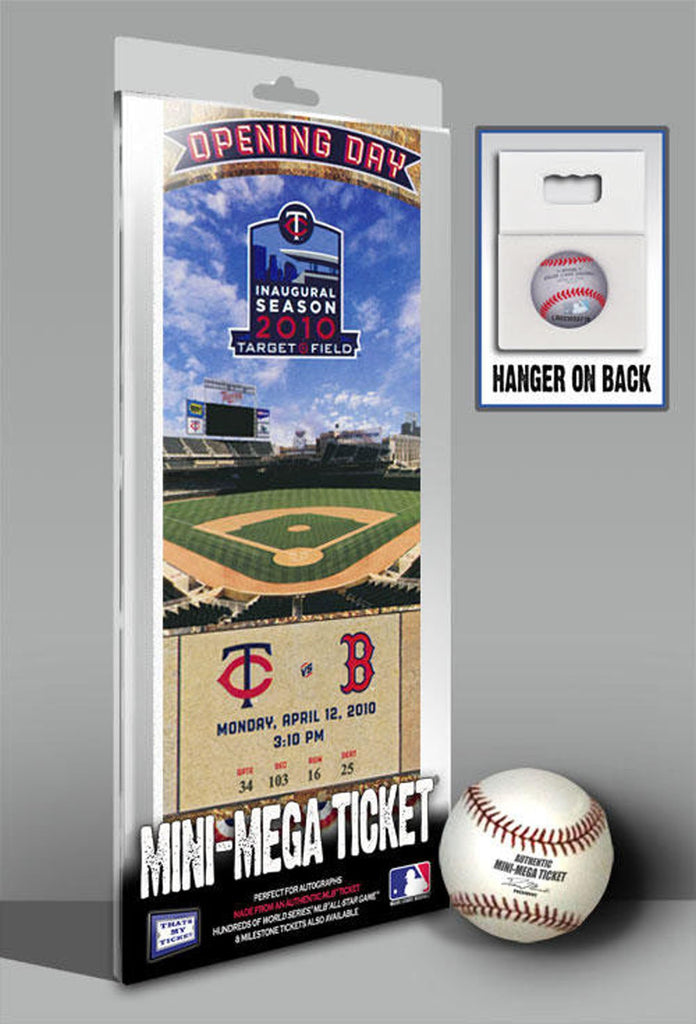 Mini-Mega Ticket - Minnesota Twins - 2010 Target Field Opening Day