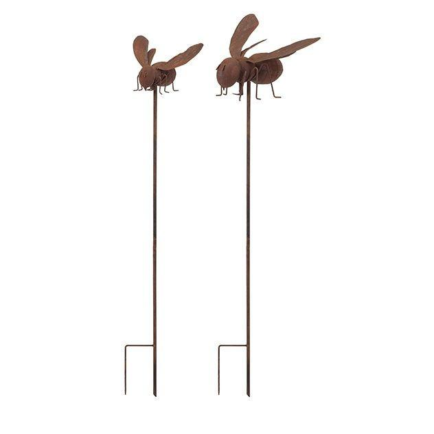Abbott Bee Garden Stake or Wall Decor - Set of 2