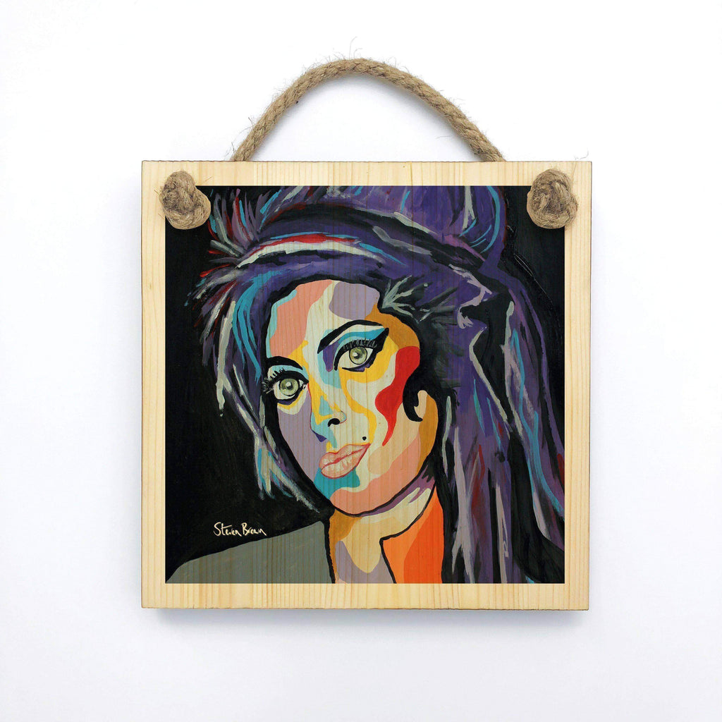 Amy Winehouse - Wooden Wall Plaque