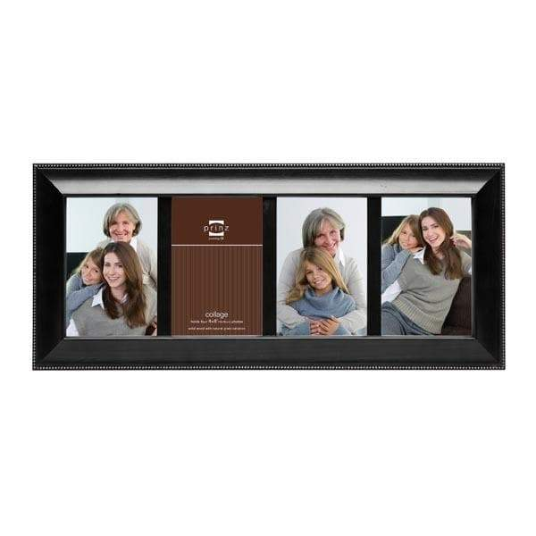 Mandalay Collage 4 Picture Frame - Black (4x6)