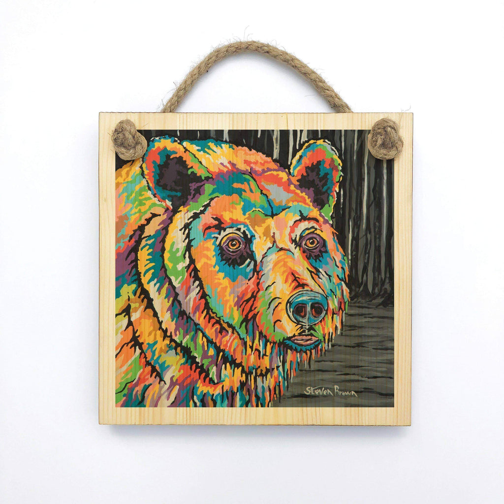 Bobby McBear - Wooden Wall Plaque