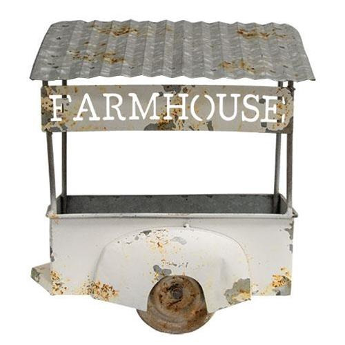 Farmhouse Flower Wagon Wall Hanger