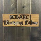 Beware of Tree Sign - Carved Cedar Wood