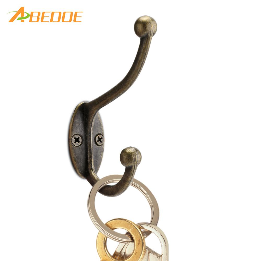 ABEDOE 5 pcs/set Vintage Bronze Wall Hook Coat Bag Hat Hanger Robe Hooks Wall Hanging Hooks Home Kitchen Wall Door Holder Hooks