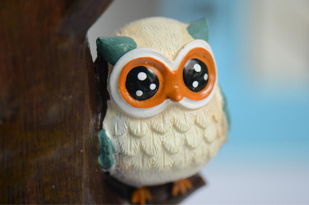 Mp Pastoral Vintage Style Owl on Sticks Resin Wall Hook Decorative Wall Hanger Home Decoration Kids Room Decor