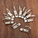 10Pcs Furniture Hardware Antique Silver Hooks Zinc Alloy Wall Hanger Hat Coat Robe Hooks Bathroom Kitchen Hooks Hanger