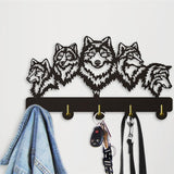 Mp 1Piece Wildlife Wolf Decorative Wall Hanger Wolf Family Clothes Wall Hooks Coat Rack Keys Holder Organizer Hook