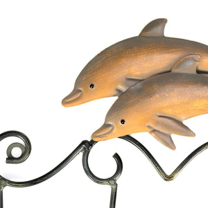 Mp Vintage Dolphin Wall Hanger Hooks for Clothes Towel Key Hanger Rack Wall Mounted Hook Holder for Bathroom Decoration