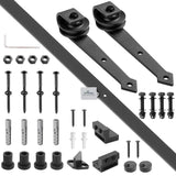 Yescom 6 ft Sliding Barn Door Hardware Kit Track Black Arrow