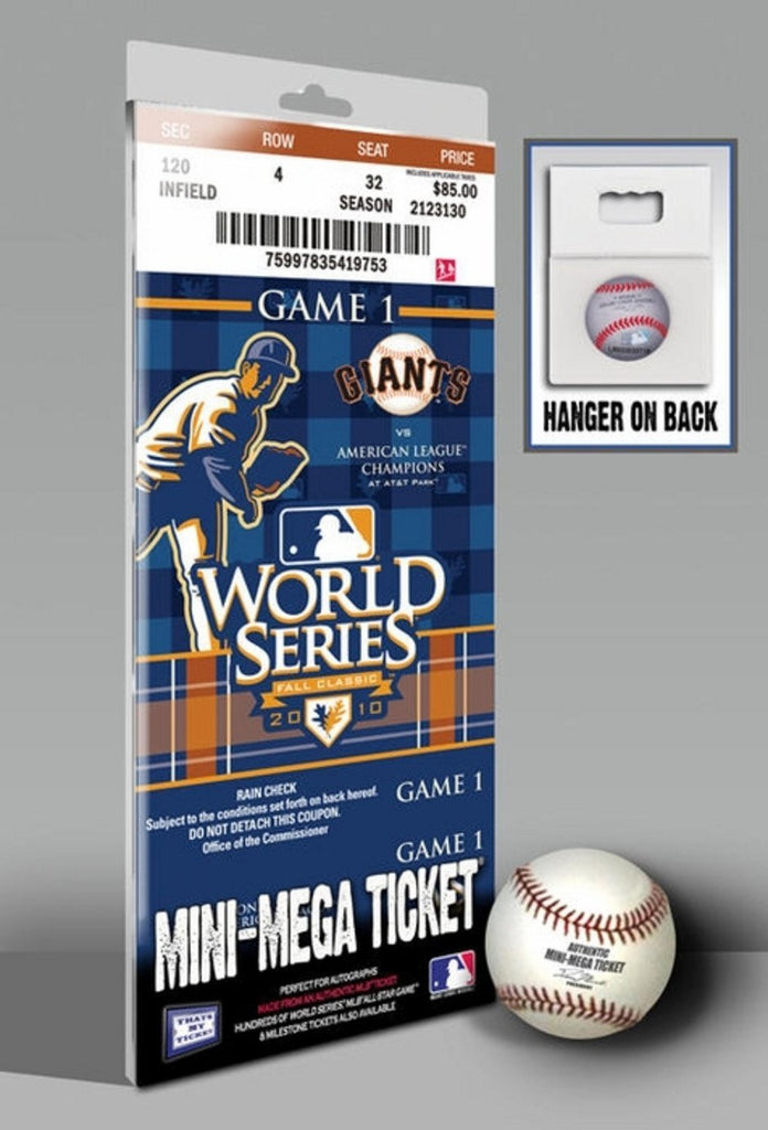 2010 World Series Mini Mega Ticket - San Francisco Giants