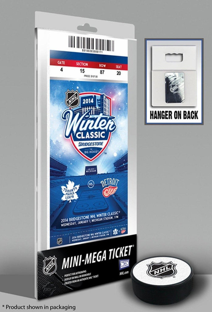 2014 NHL Winter Classic Mini-Mega Ticket - Maple Leafs vs Red Wings