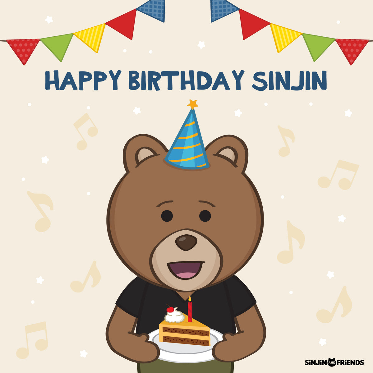 Happy Birthday Sinjin Bear