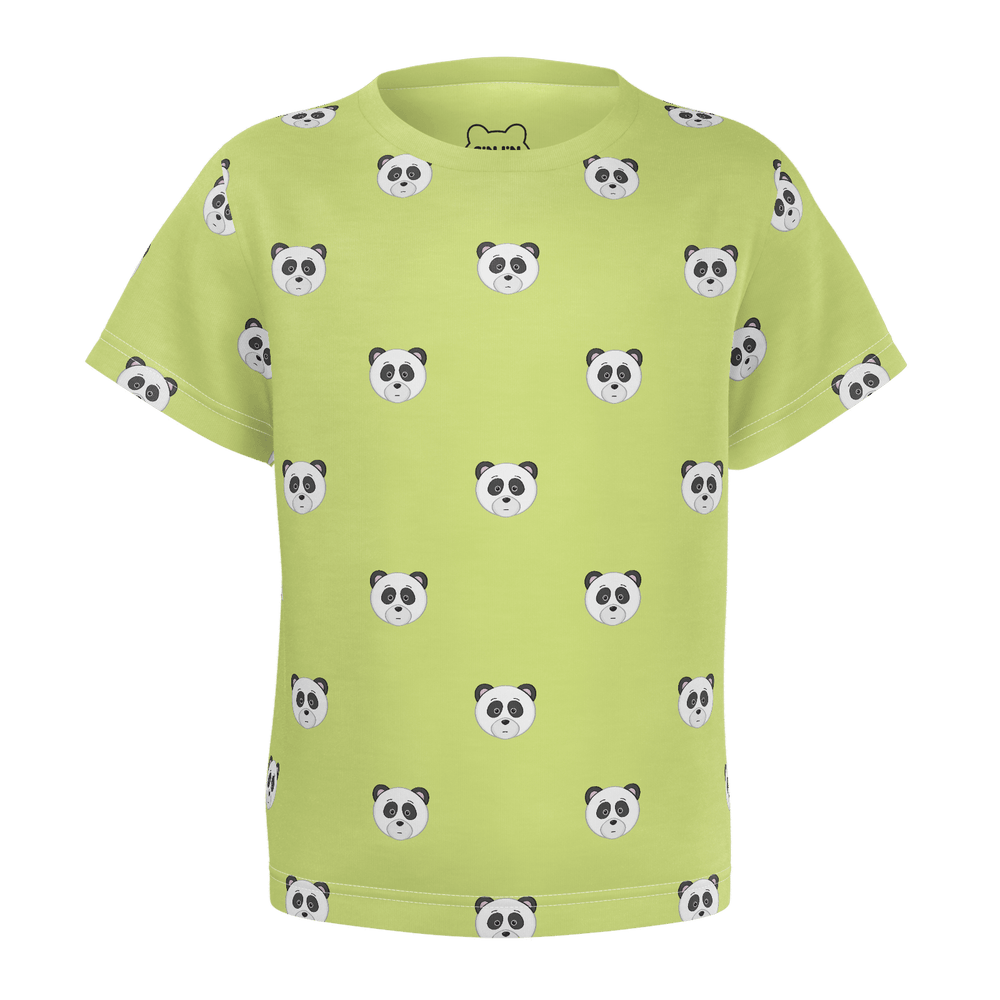 Toddler Panda Head Pattern T-Shirt