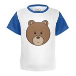 Toddler Blue Bear Head T-Shirt