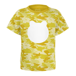 Toddler Yellow Camo Head T-Shirt