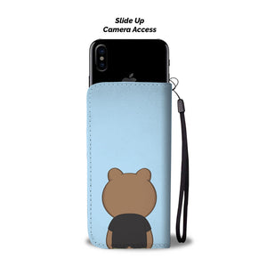 Sinjin Bear Phone Wallet Case