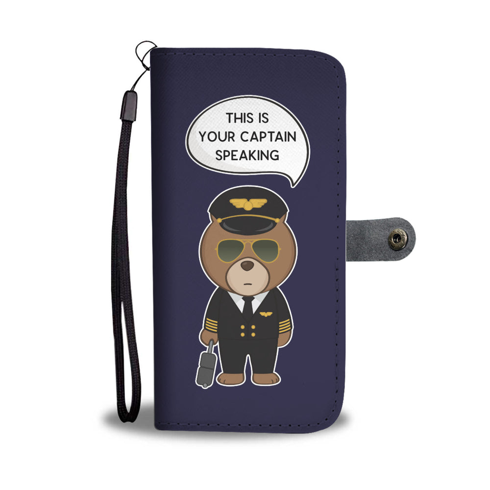 Bear Pilot Phone Wallet Case