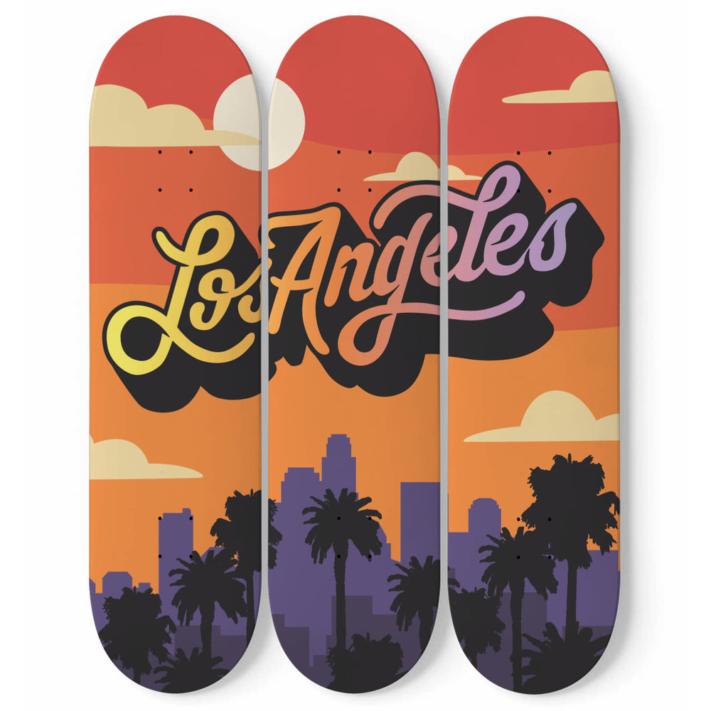 Los Angeles Skateboard Wall Art