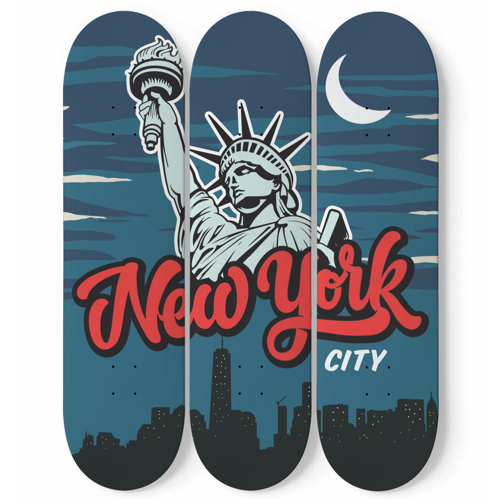 New York Skateboard Wall Art