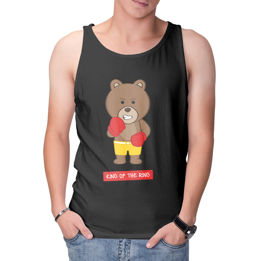 Men's Printed Boxing Bear Singlet