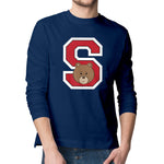 Men's Printed College S Long Sleeve T-Shirt