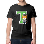 Men's Printed College T T-Shirt