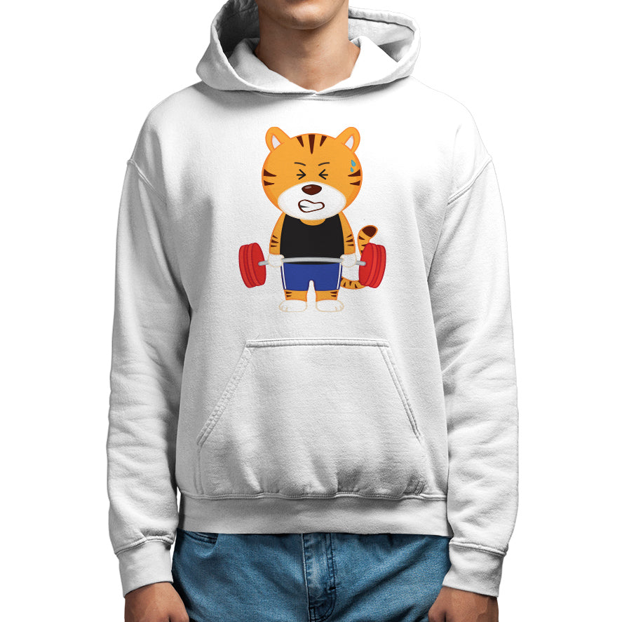 Men's Printed Gym Tiger Hoodie