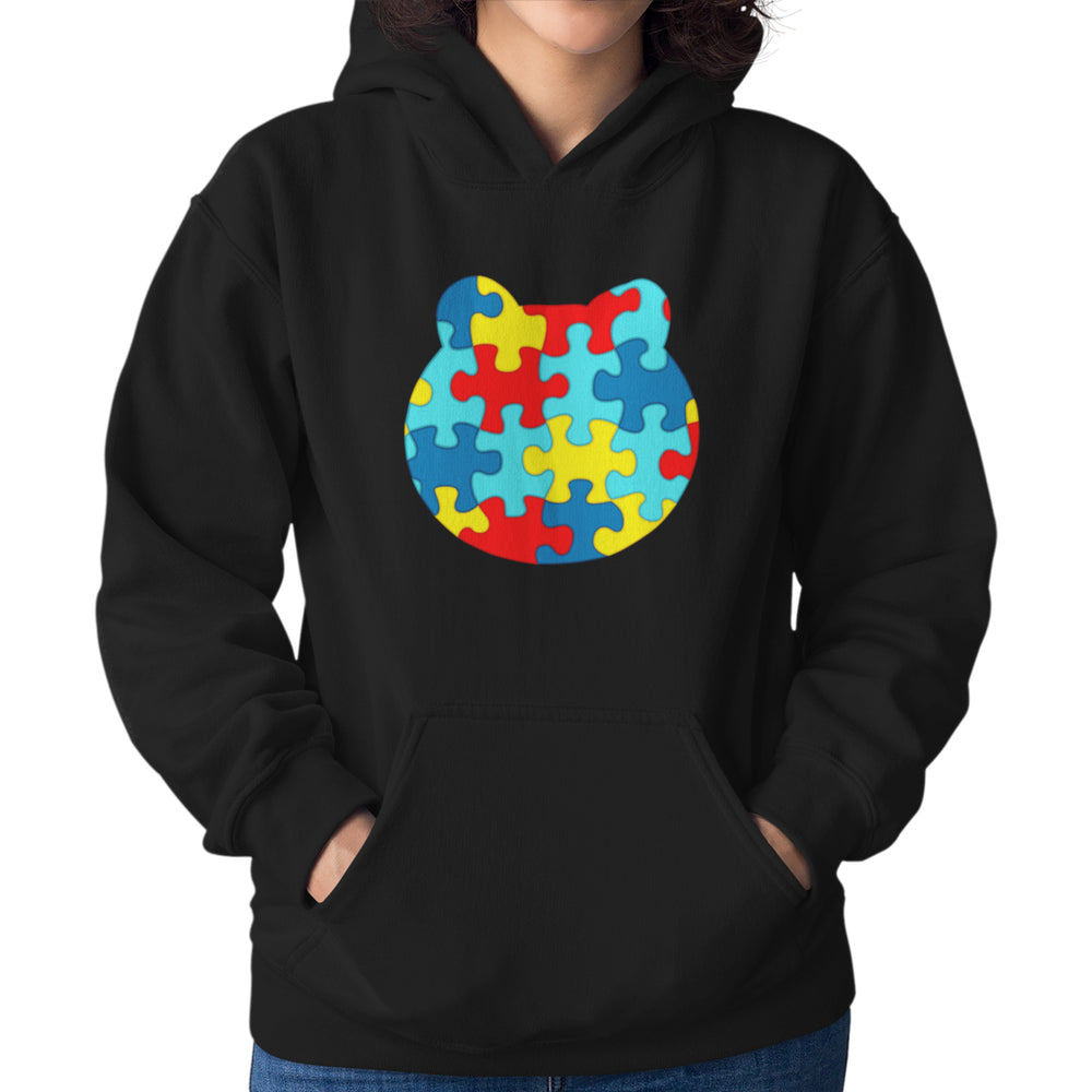 Women's Printed Autism Awareness Relaxed Fit Hoodie