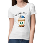Women's Panda Coffee Relaxed Fit T-Shirt