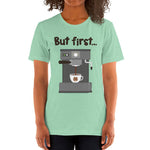 Women's Printed Coffee Relaxed Fit T-Shirt