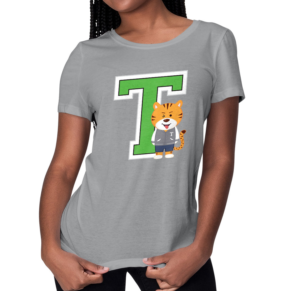 Women's Printed College T Relaxed Fit T-Shirt
