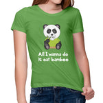 Women's Bamboo Panda Relaxed Fit T-Shirt