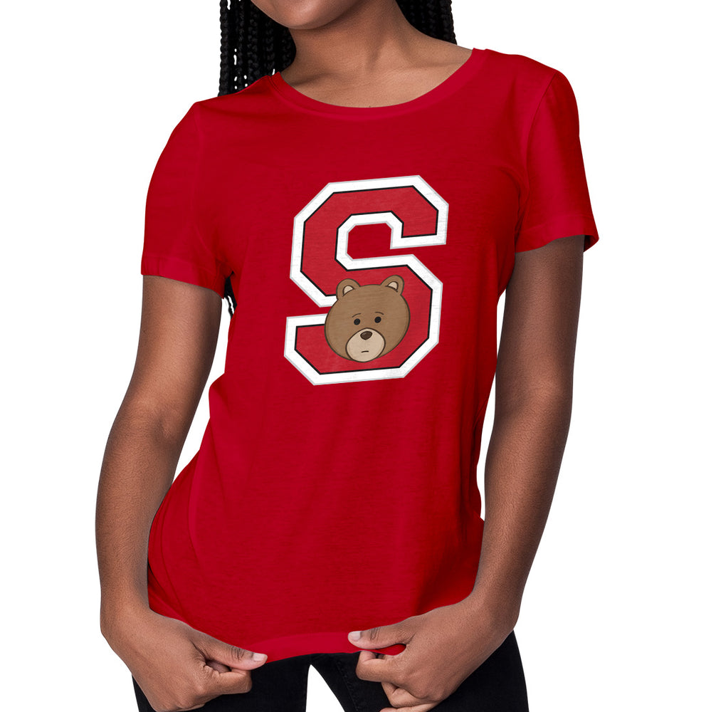 Women's Printed College S Relaxed Fit T-Shirt