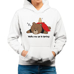 Women's Printed Sleepy Bear Relaxed Fit Hoodie