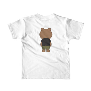 Boy's Kids (2-6 Years) Printed Bear Front and Back T-Shirt