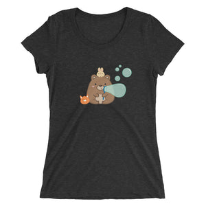 Women's Printed Buggles Bubbles Fitted T-Shirt