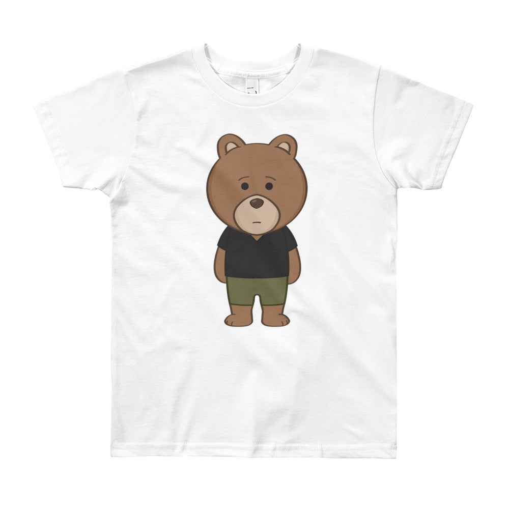 Boy's 8-12 Years Printed Bear Front and Back T-Shirt