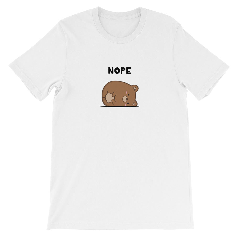 Women's Printed Nope Buggles Bear Relaxed Fit T-Shirt