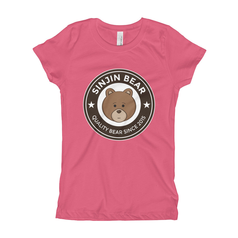 Girl's Youth Printed Quality Bear T-Shirt