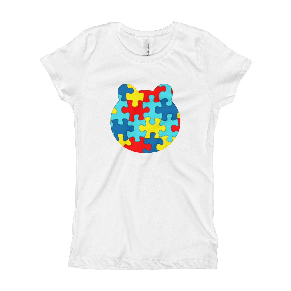 Girl's Printed  Autism Awareness T-Shirt
