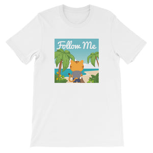 Women's Printed Follow Me Beach Relaxed Fit T-Shirt