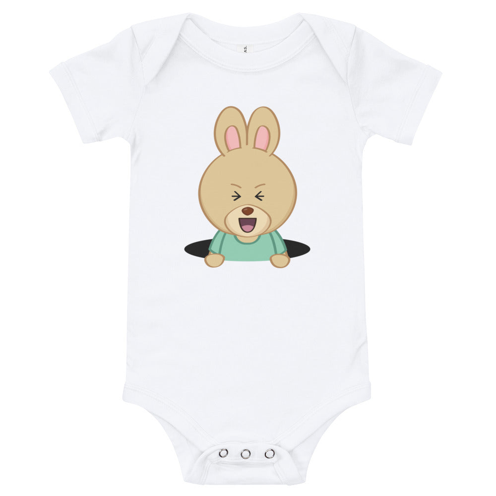 Baby Rabbit Hole Onesie