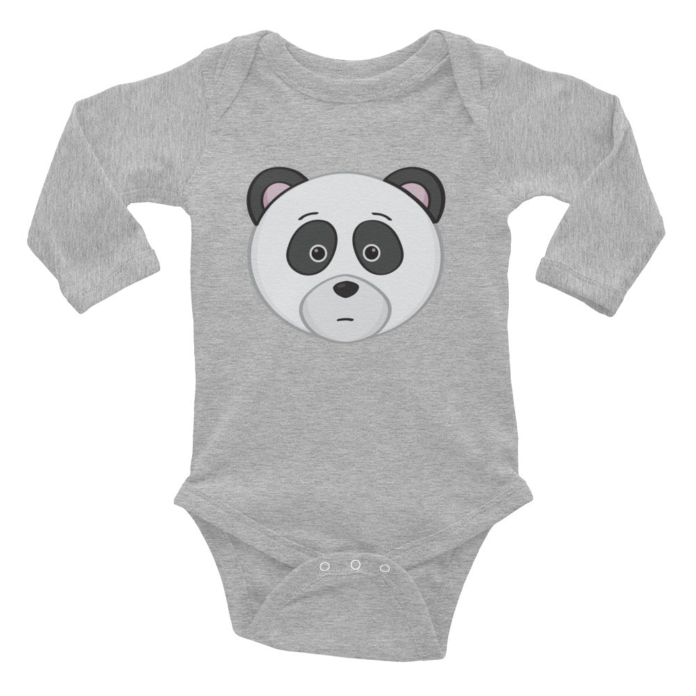 Baby Long Sleeve Panda Onesie