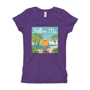 Girl's Youth Printed Follow Me T-Shirt