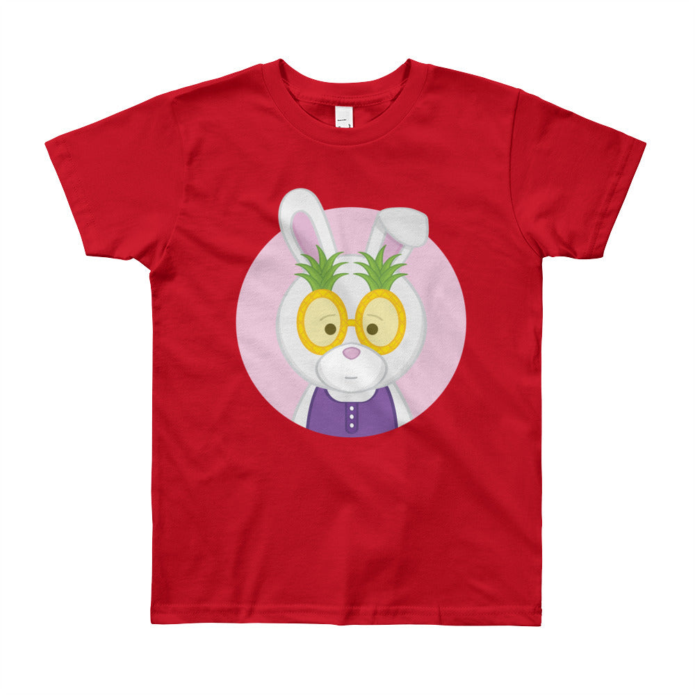 Girl's Youth (8-12 Years) Printed Pineapple Bunny T-Shirt