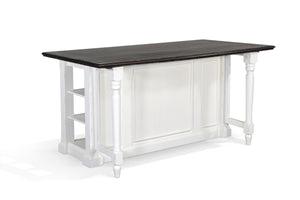 Carriage House Kitchen Island Table with Drop Leaf