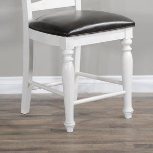 "24""H Carriage House Ladderback Barstool, Cushion Seat"
