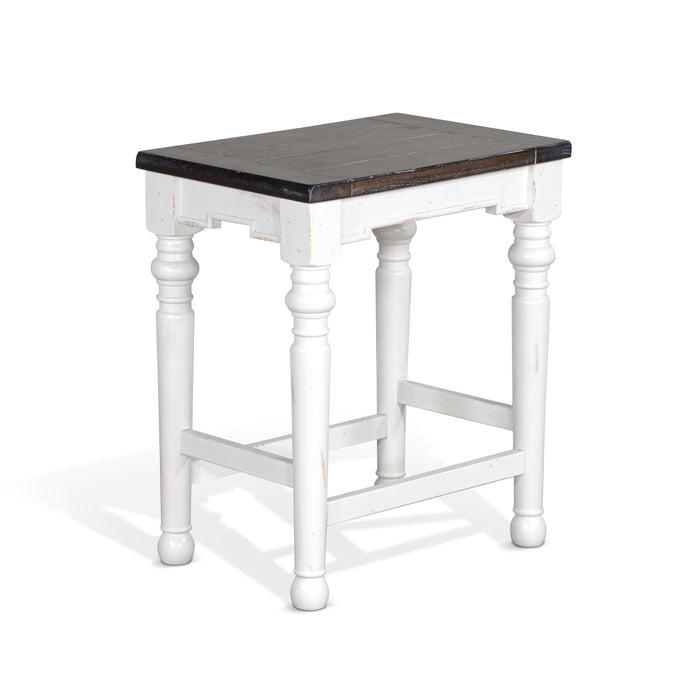 "24""H Carriage House Stool w/ Wood Seat"