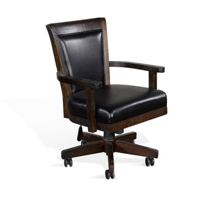 Homestead Game Chair w/ Casters, Cushion Seat & Back