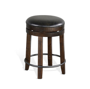 "24"" Swivel Stool w/ Cushion Seat"